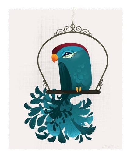 Blue Birdie by britsketch