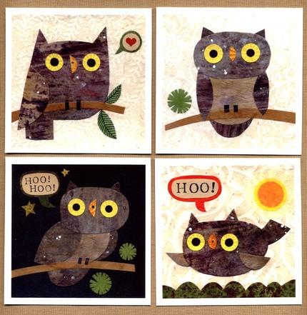 Owl Print Set  by kateendle
