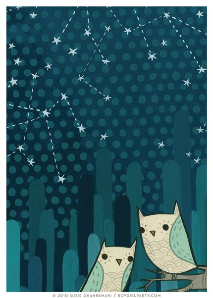 Starry Owl II  by boygirlparty
