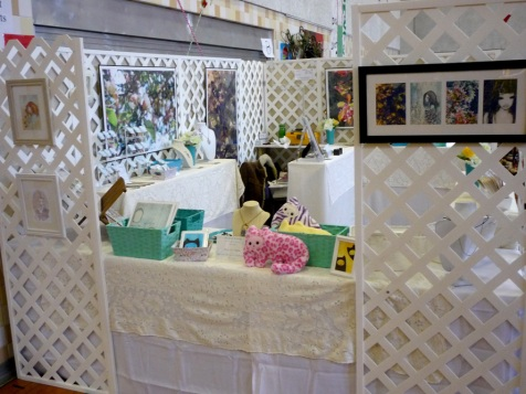 lattice walls for craft booths