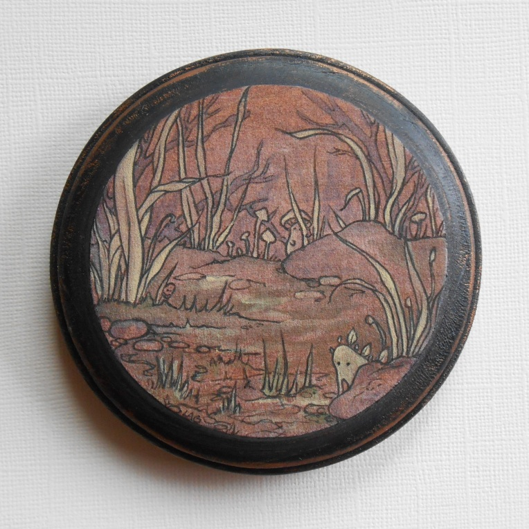 forest spirits wood plaque